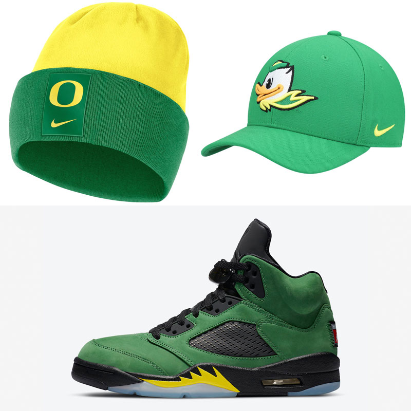jordan-5-oregon-ducks-nike-hats