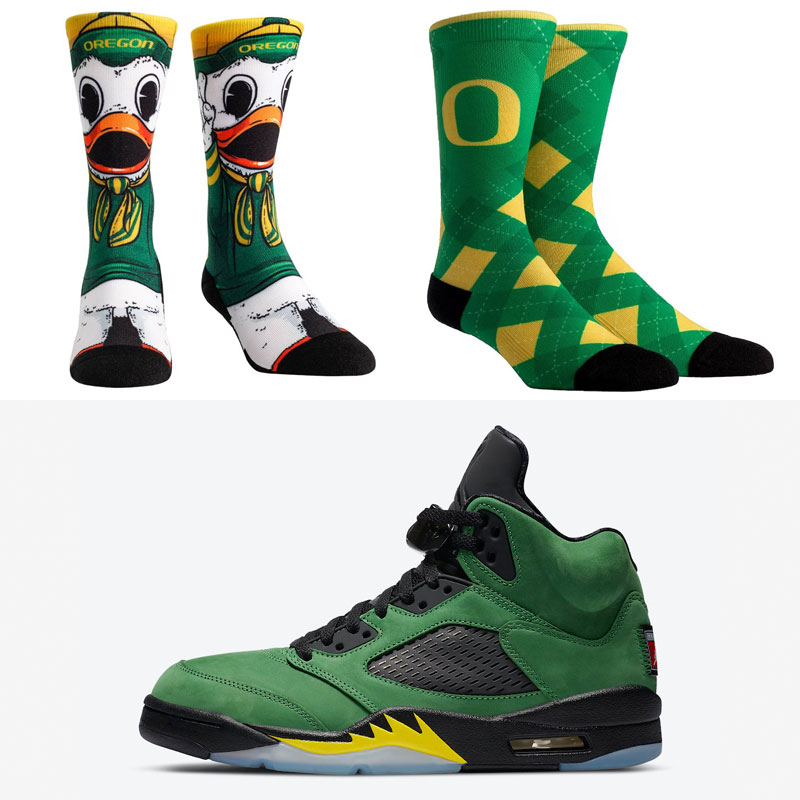 jordan-5-oregon-ducks-socks-match