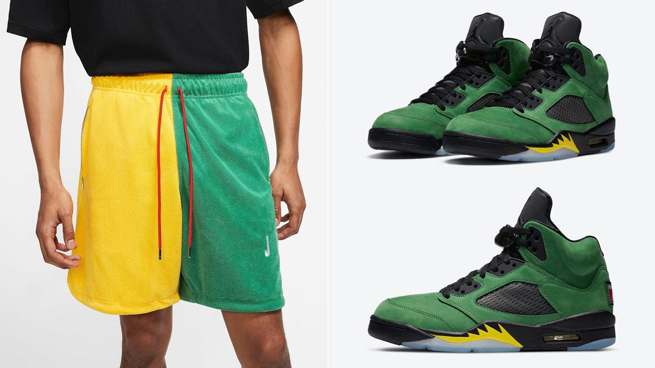 jordan-5-oregon-shorts-match