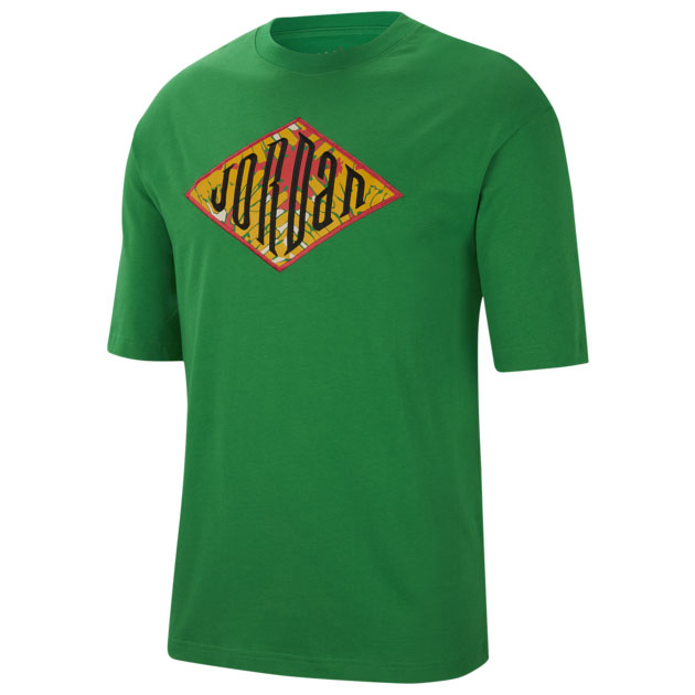 oregon-jordan-5-apple-green-shirt-match-1