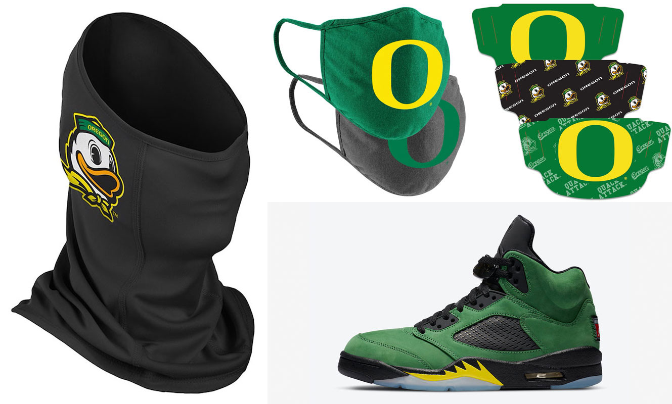 oregon-jordan-5-face-masks-match