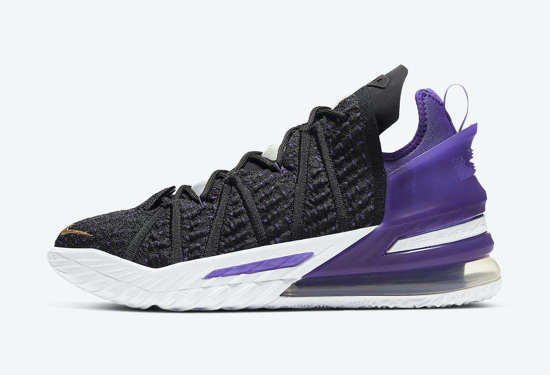 Nike-LeBron-18-Lakers-Court-Purple-CQ9283-004-Release-Date