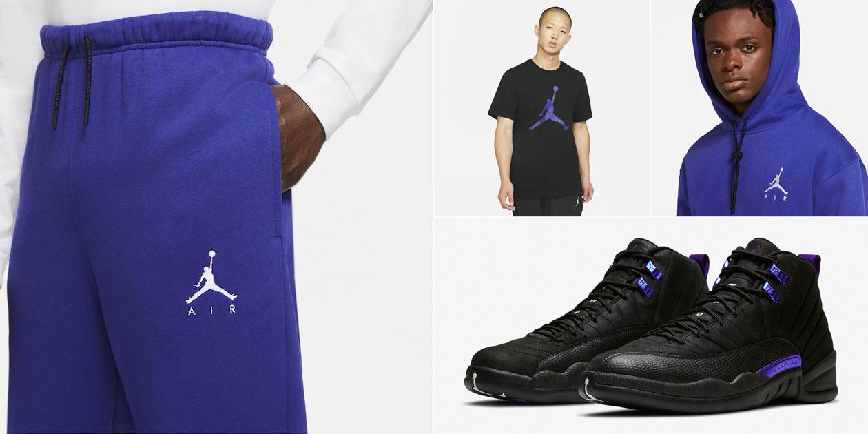 air-jordan-12-black-concord-clothing-match
