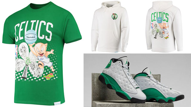 air-jordan-13-lucky-green-celtics-space-jam-clothing-match