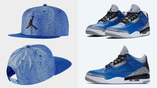 air-jordan-3-blue-cement-snapback-hat