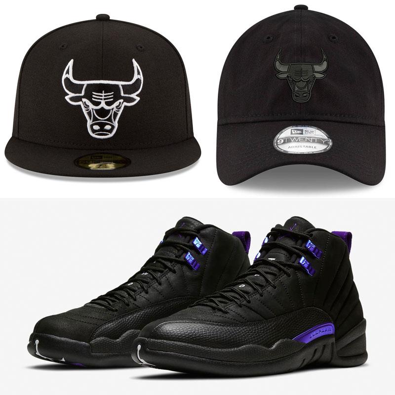 jordan-12-dark-concord-bulls-hats