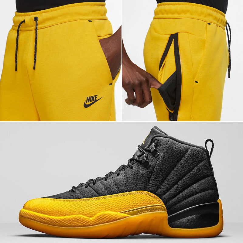 jordan-12-university-gold-jogger-pants-match