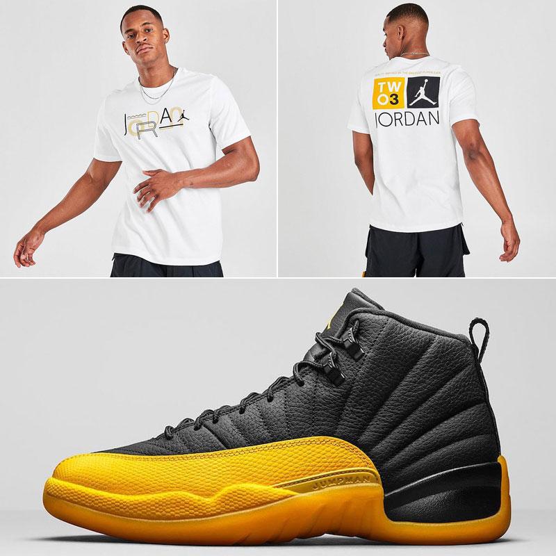 jordan-12-university-gold-sneaker-match-tee-shirt