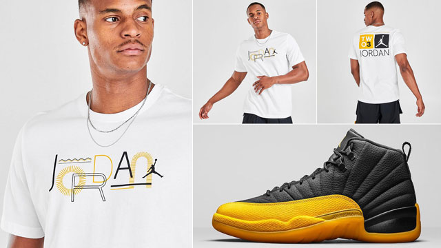 jordan-12-university-gold-sneaker-match-tee