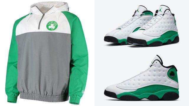 jordan-13-lucky-green-celtics-new-era-hoodie-match