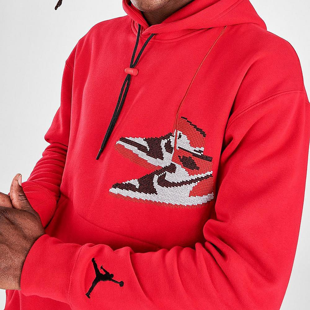 jordan-aj1-holiday-2020-hoodie-red-2