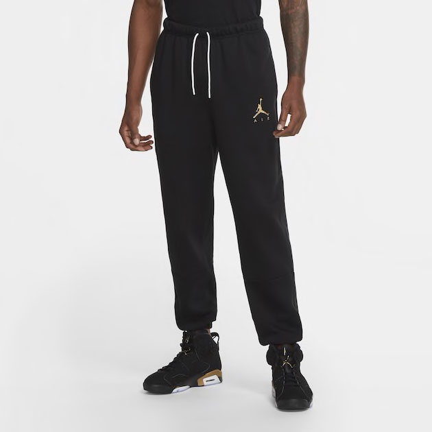 jordan-jumpman-air-fleece-pants-black-gold