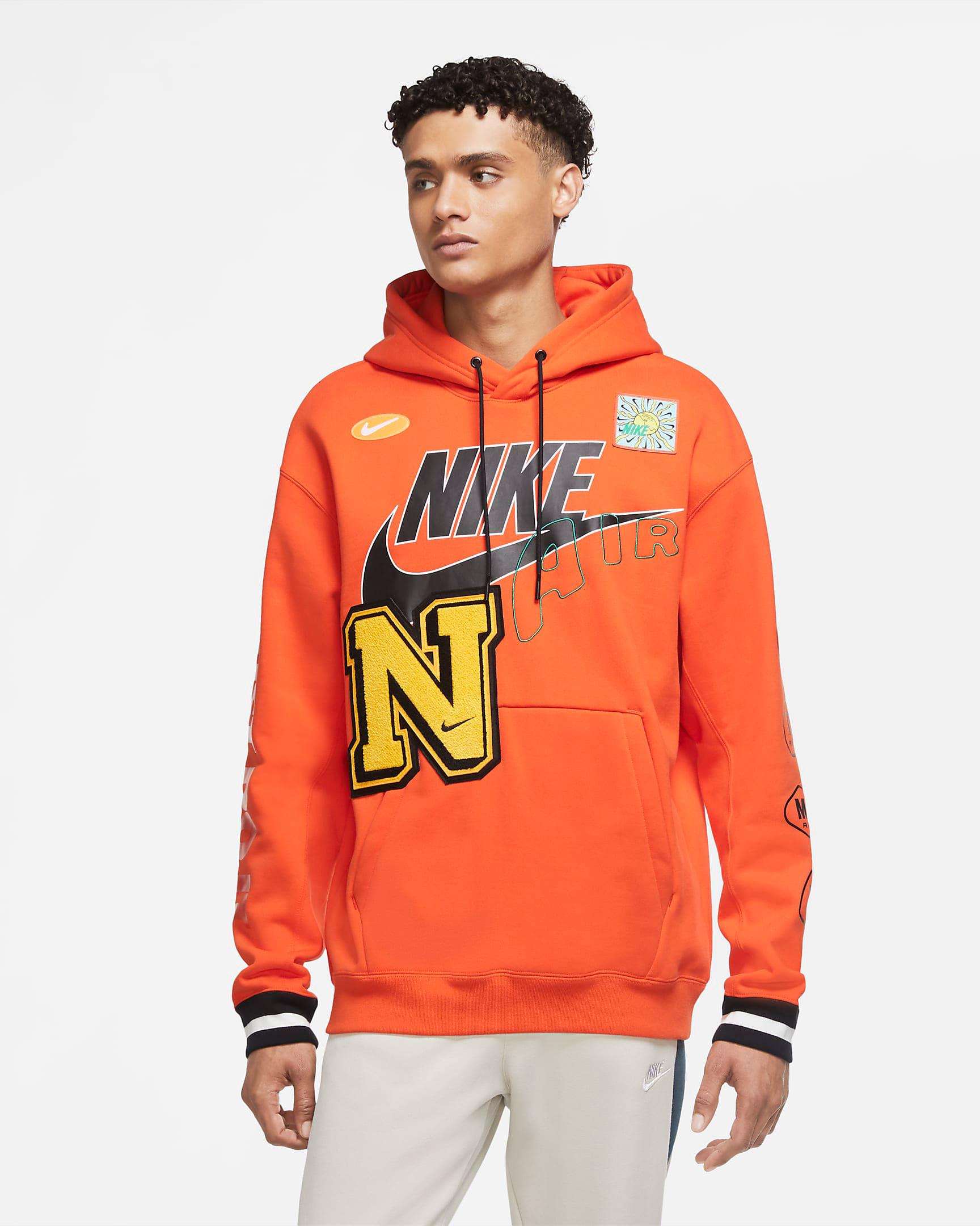 nike-air-force-1-orange-skeleton-hoodie-match-1