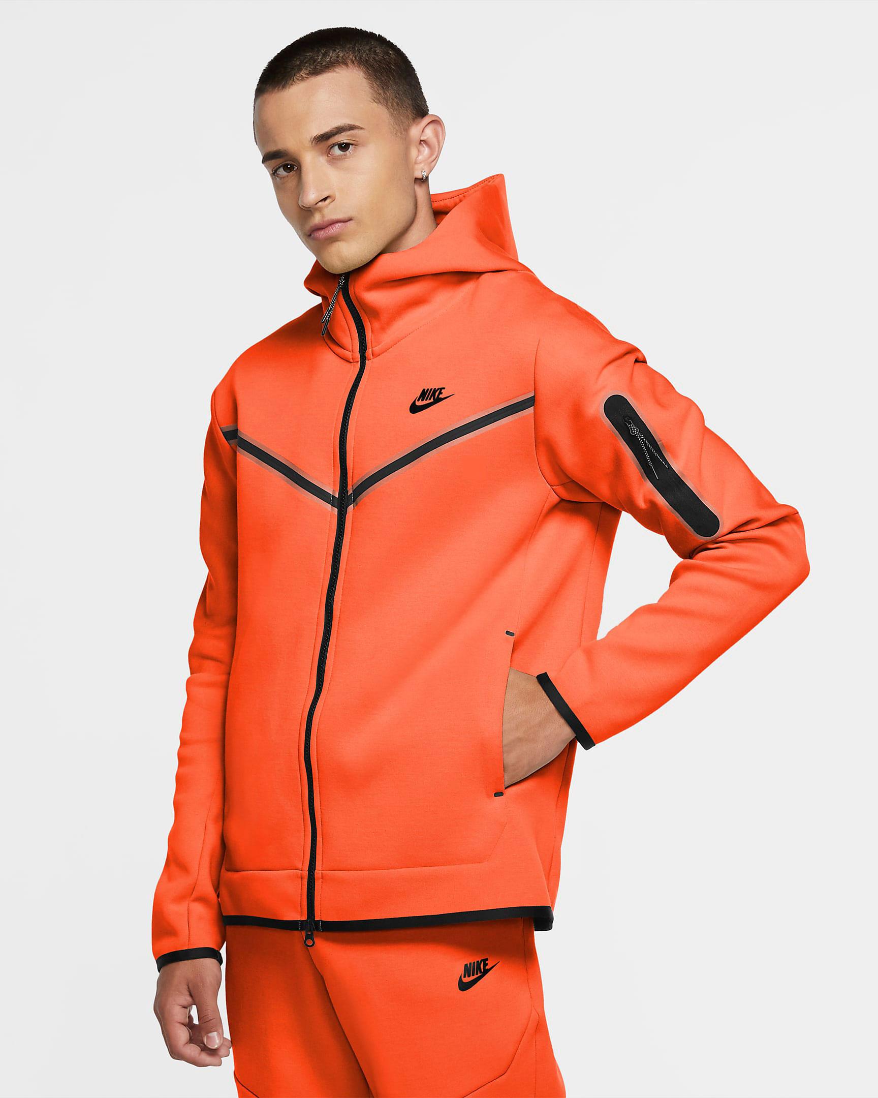nike-air-force-1-orange-skeleton-hoodie-match