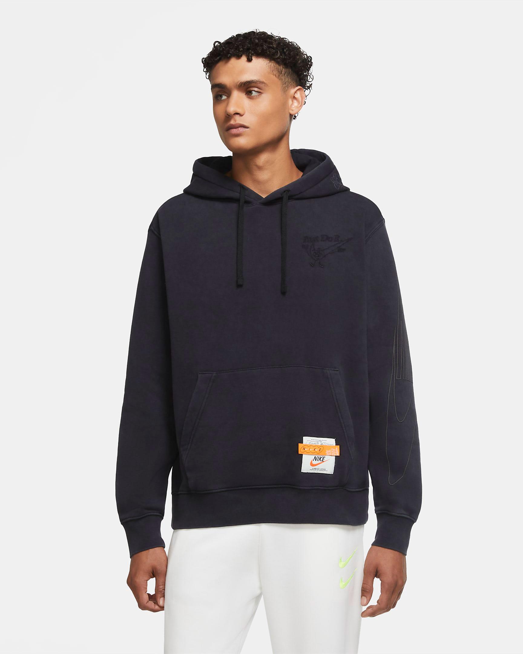 nike-air-force-1-orange-skeleton-matching-hoodie-1