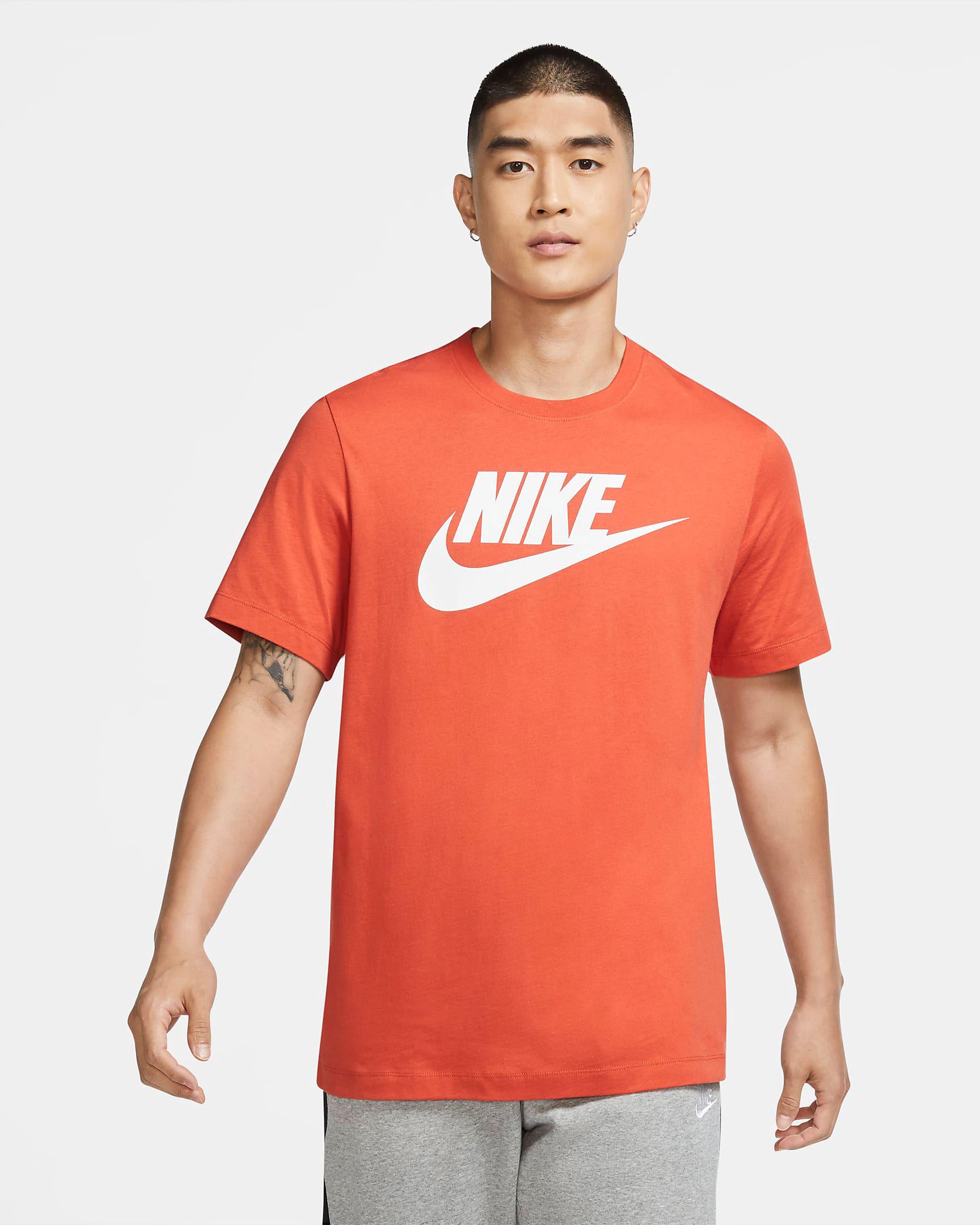 nike-air-force-1-orange-skeleton-shirt-match-1