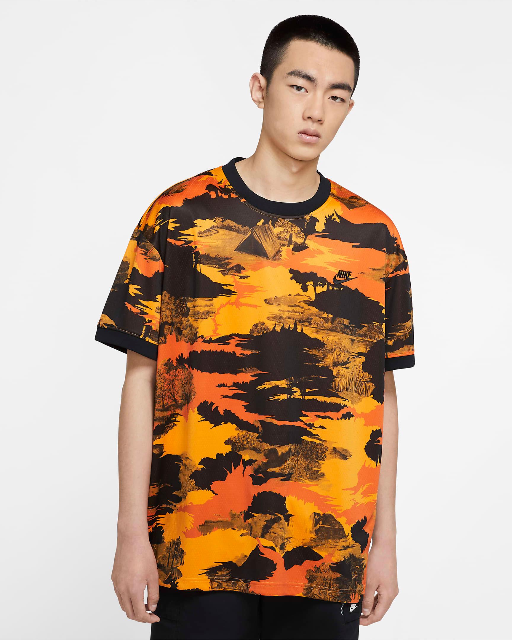 nike-air-force-1-orange-skeleton-shirt-match