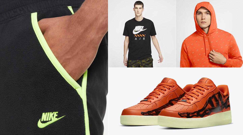 nike-air-force-1-orange-skeleton-sneaker-clothing