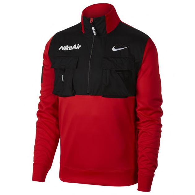 nike-air-half-zip-jacket-red-black