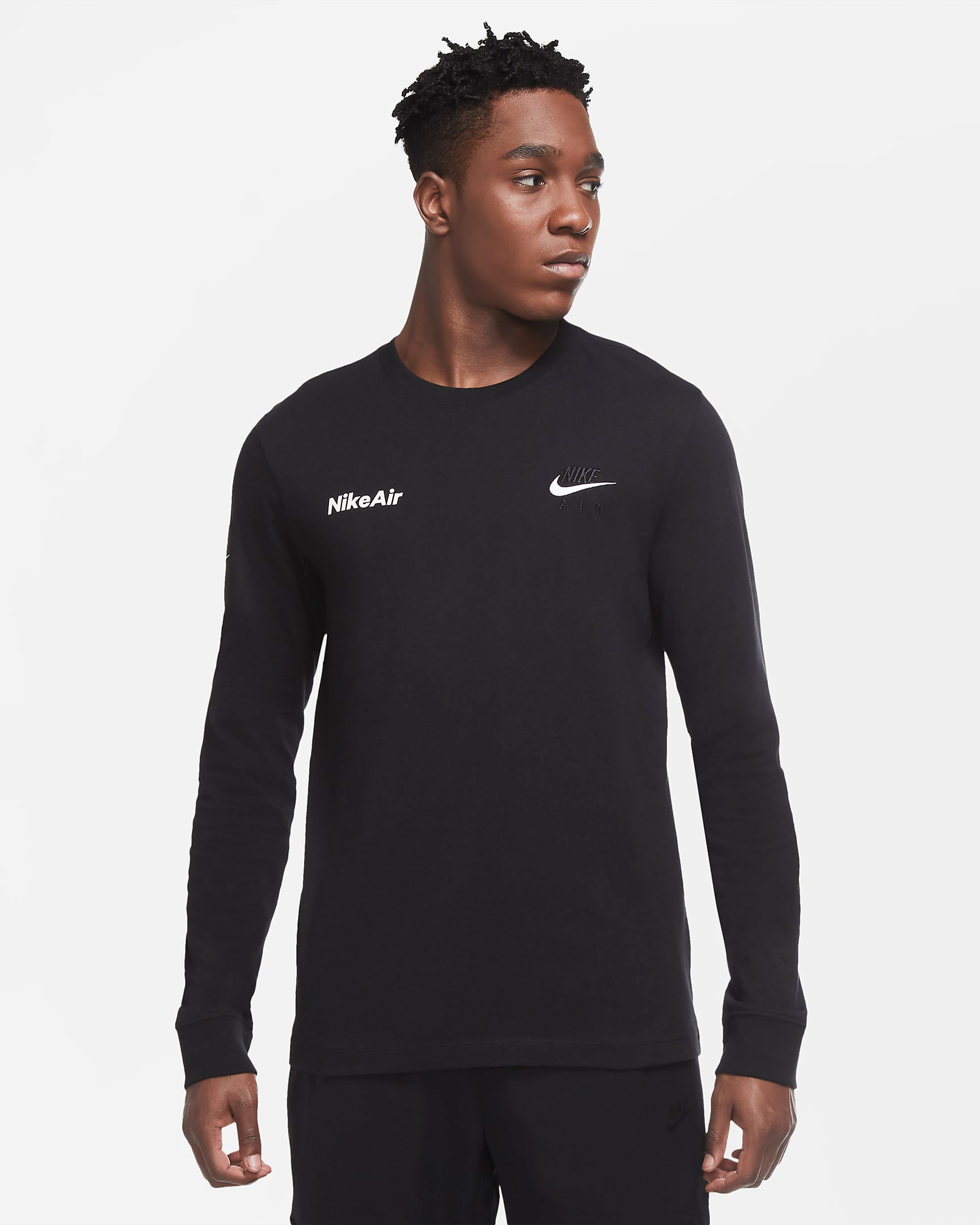 nike-foamposite-one-anthracite-blackout-long-sleeve-shirt-match-1