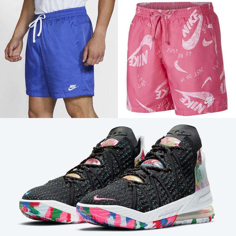 nike-lebron-18-james-gang-shorts-match
