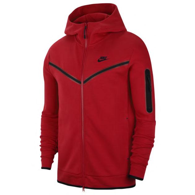 nike-tech-fleece-hoodie-red-black