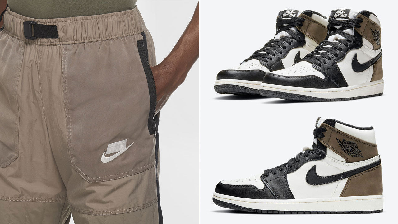 air-jordan-1-high-dark-mocha-nike-pants-match