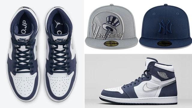 air-jordan-1-high-midnight-navy-hats-to-match
