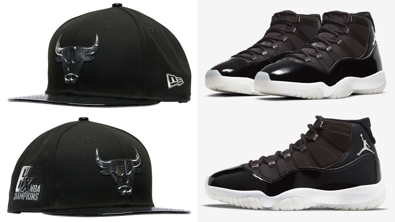 air-jordan-11-jubilee-bulls-hat-match