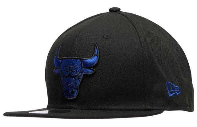 air-jordan-12-black-dark-concord-bulls-hat-new-era-1