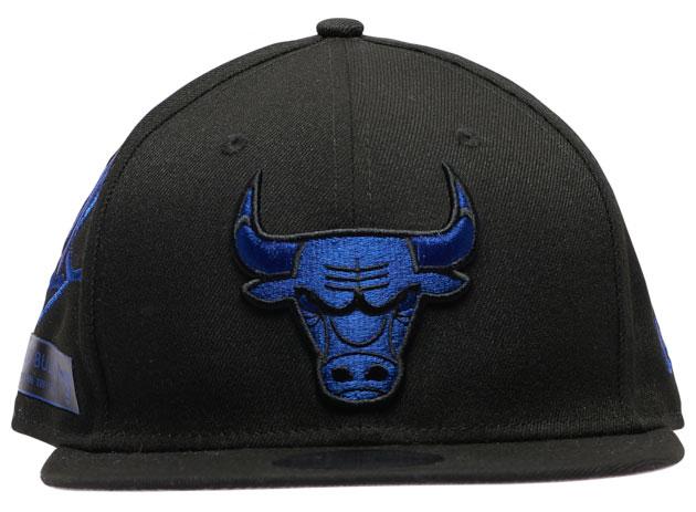 air-jordan-12-black-dark-concord-bulls-hat-new-era-2