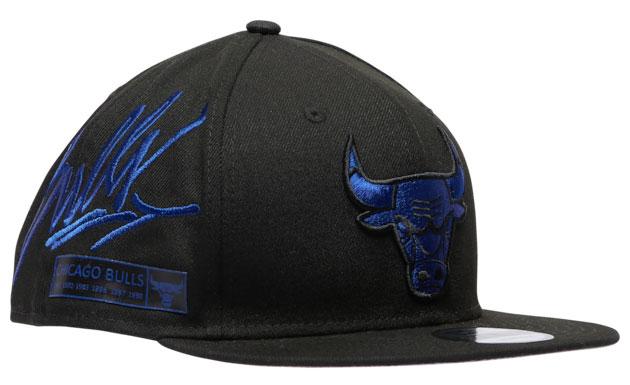 air-jordan-12-black-dark-concord-bulls-hat-new-era-3