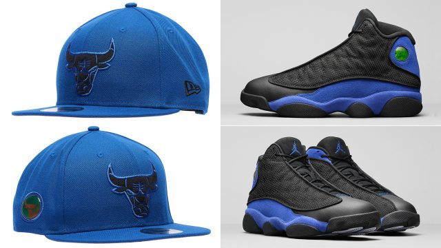 air-jordan-13-hyper-royal-black-bulls-hat