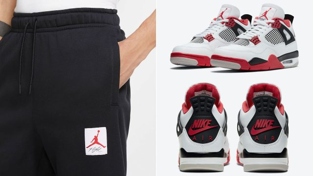 air-jordan-4-fire-red-jogger-pants