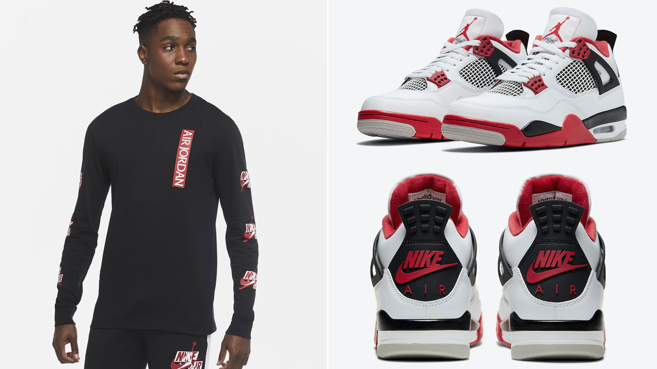 air-jordan-4-fire-red-jordan-clothing-match