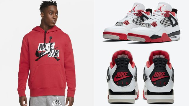 air-jordan-4-fire-red-jumpman-classic-hoodie-match
