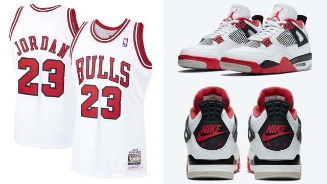air-jordan-4-fire-red-michael-jordan-chicago-bulls-jersey