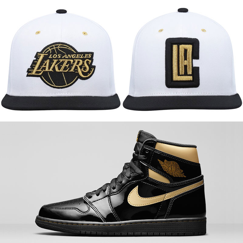 jordan-1-black-gold-nba-hats