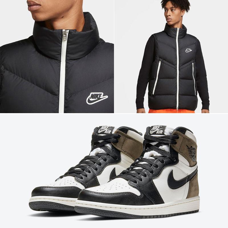 jordan-1-dark-mocha-nike-vest-jacket