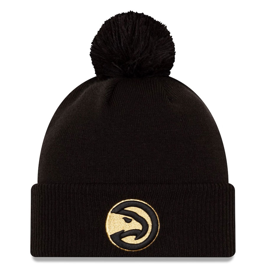 jordan-1-high-black-gold-atlanta-hawks-city-edition-new-era-knit-hat-beanie-1