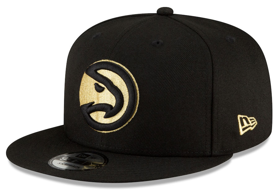 jordan-1-high-black-gold-atlanta-hawks-city-edition-new-era-snapback-hat-1