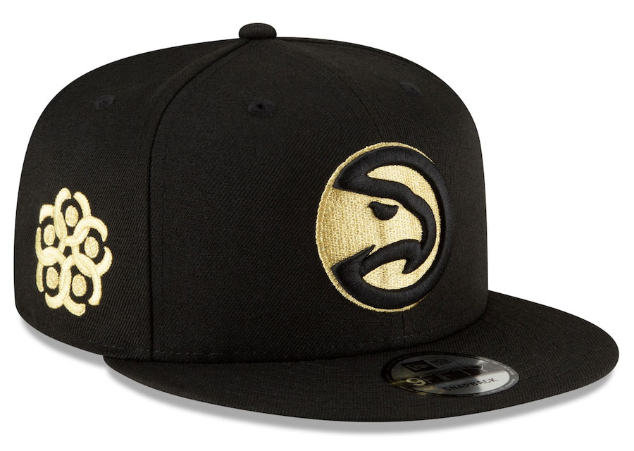 jordan-1-high-black-gold-atlanta-hawks-city-edition-new-era-snapback-hat-2