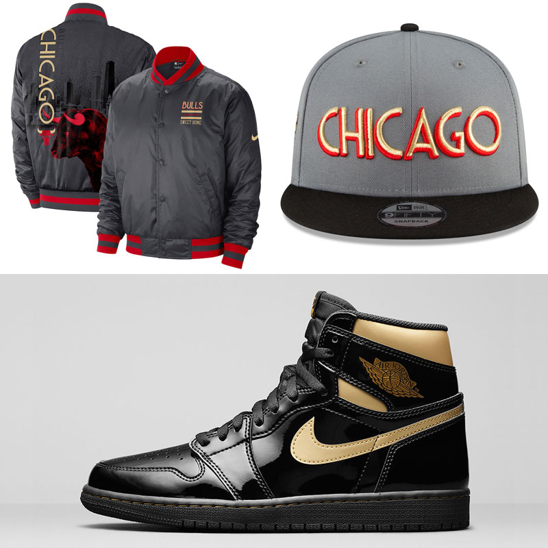 jordan-1-high-black-gold-chicago-bulls-clothing-hats-outfits