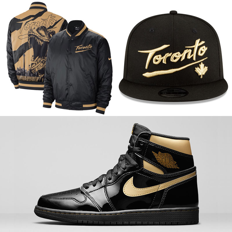 jordan-1-high-black-gold-toronto-raptors-city-edition-clothing-hats