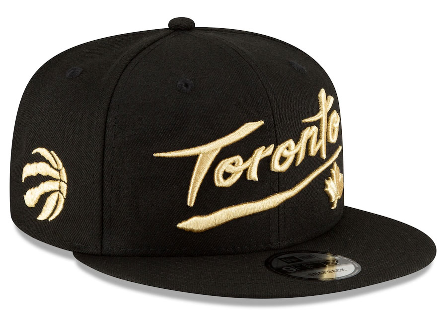 jordan-1-high-black-gold-toronto-raptors-new-era-city-edition-snapback-hat-1