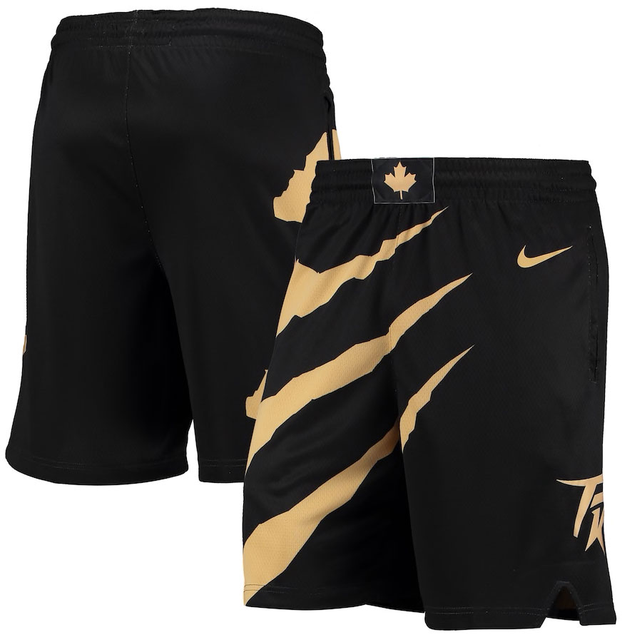 jordan-1-high-black-gold-toronto-raptors-nike-city-edition-shorts