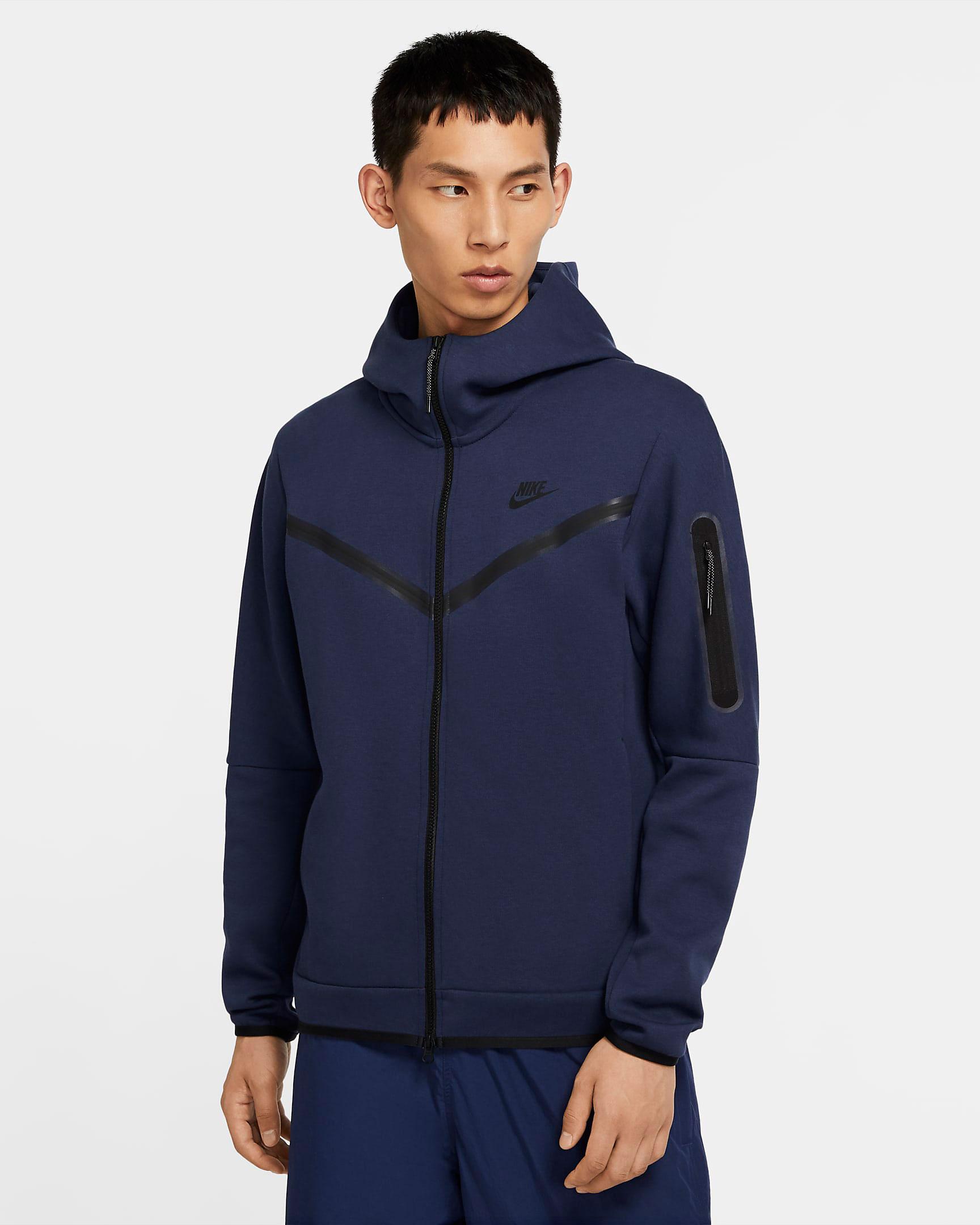 jordan-1-high-midnight-navy-nike-tech-fleece-hoodie