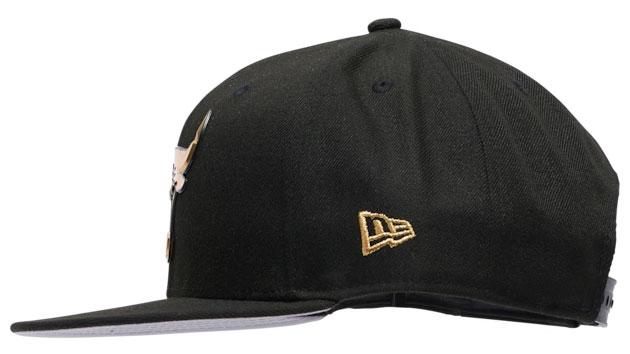 jordan-1-high-patent-black-gold-bulls-new-era-hat-5