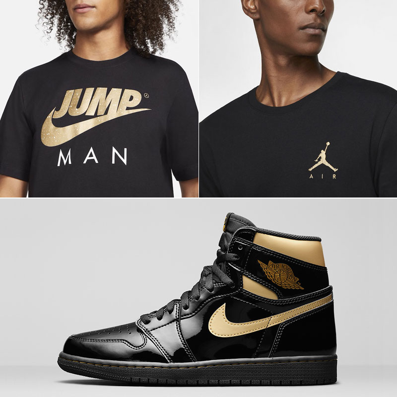 jordan-1-high-patent-black-gold-clothing