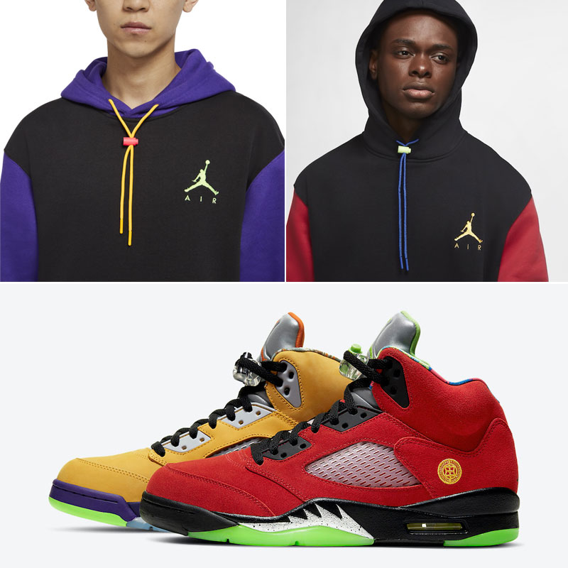 jordan-5-what-the-multi-color-hoodies